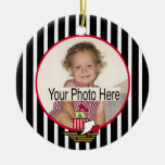Pirate Ship Photo Double-Sided Ceramic Round Christmas Ornament