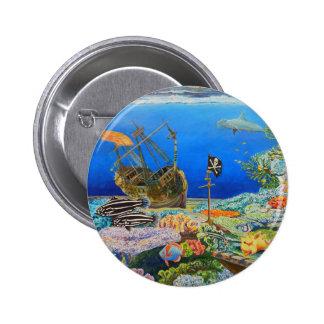 Pirate Ship Pinback Button