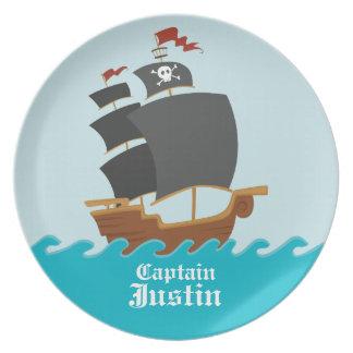 Pirate Ship Plates