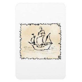 Pirate Ship Vinyl Magnet