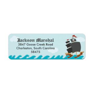 Pirate Ship Return Address Label