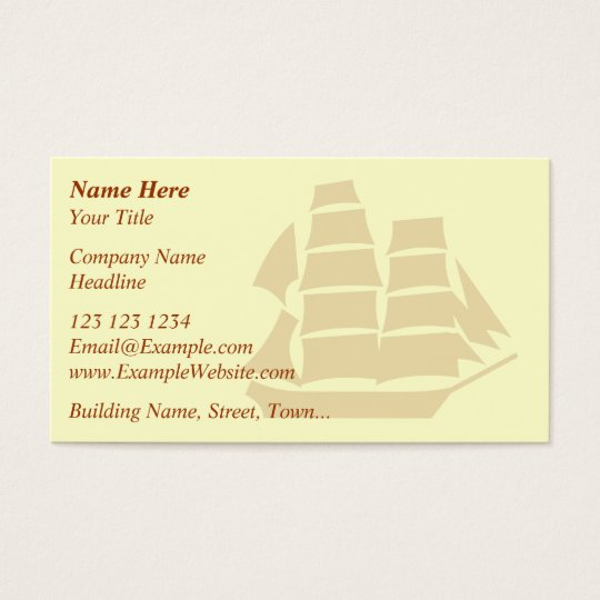Pirate Ship. Sailing Ship. Business Card