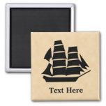 Pirate Ship. Sailing Ship. Fridge Magnets