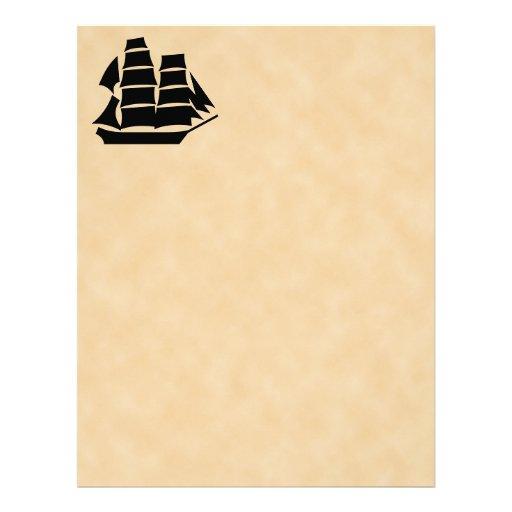 Pirate Ship. Sailing Ship. Letterhead Design
