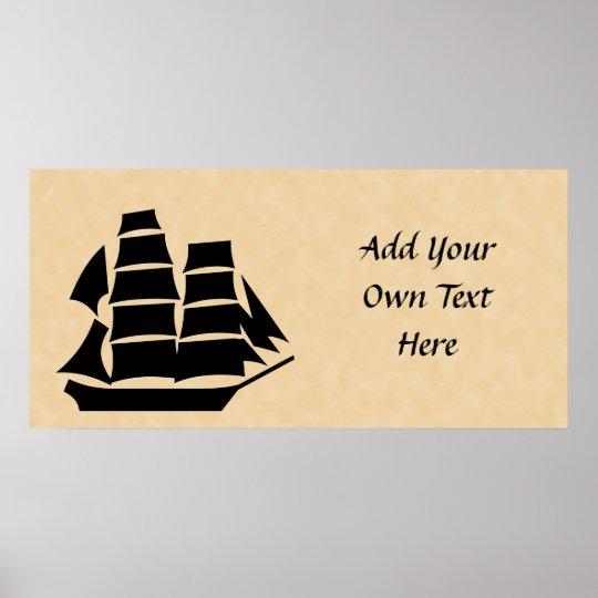 Pirate Ship. Sailing Ship. Poster