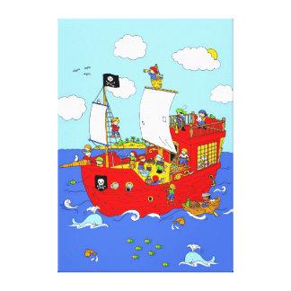 Pirate Ship scene Canvas Print