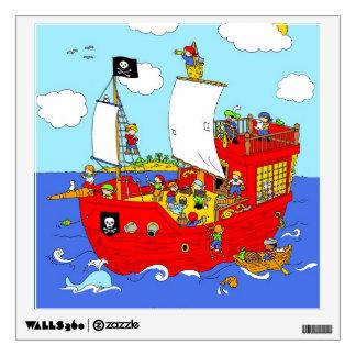 Pirate Ship scene Wall Sticker