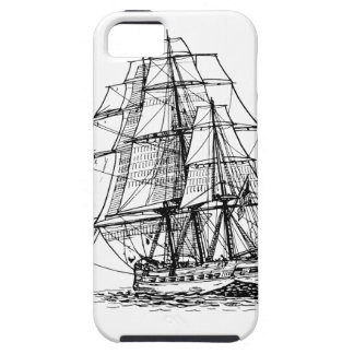 Pirate Ship Silhouette iPhone SE/5/5s Case