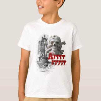 Pirate Ship & Skeleton Skull & Bones Kids T-Shirt
