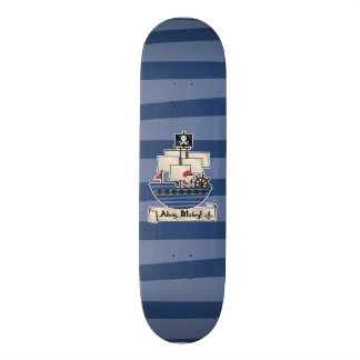 Pirate Ship | Skeleton Skull Pirate | Ahoy Matey! Skateboard Deck
