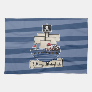 Pirate Ship | Skeleton Skull Pirate | Ahoy Matey! Towel