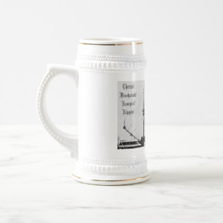 Pirate ship stein with Cheers! in 8 langugaes