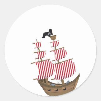 Pirate Ship Sticker Round Sticker