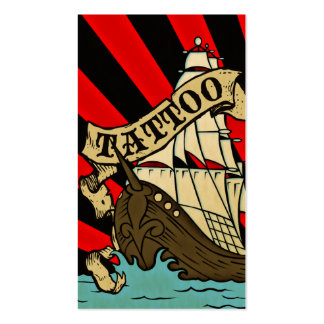 pirate ship tattoo Double-Sided standard business cards (Pack of 100)