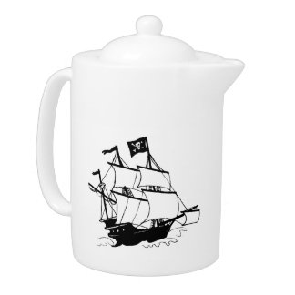 Pirate Ship Teapot