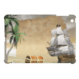 Pirate ship that discovers a treasure case for the iPad mini