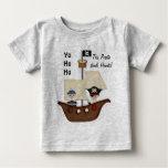 Pirate Ship Treasure Baby Tee Shirts