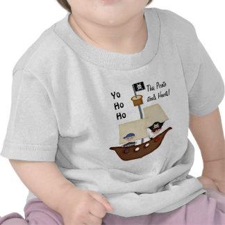 Pirate Ship Treasure Baby Tee Shirt