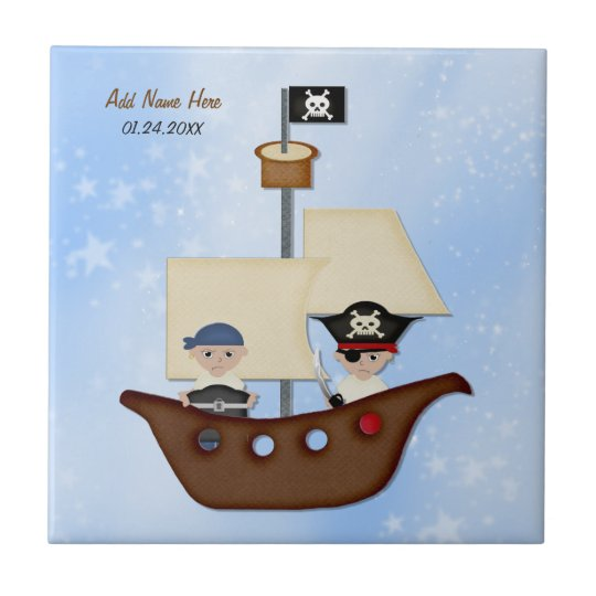 Pirate Ship Treasure  - Customize Tile
