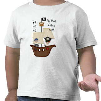 Pirate Ship Treasure First Birthday T Shirts