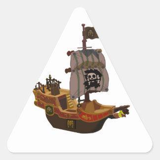 Pirate Ship Triangle Sticker