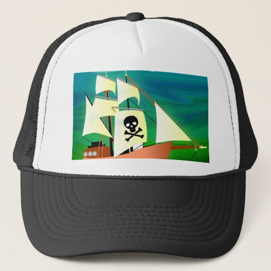 Pirate Ship Trucker Hat