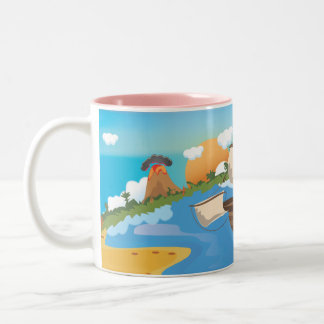 Pirate Ship Two-Tone Coffee Mug