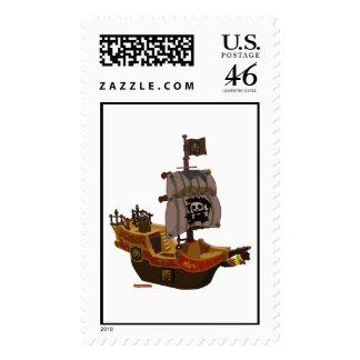Pirate Ship U S Postage Stamp