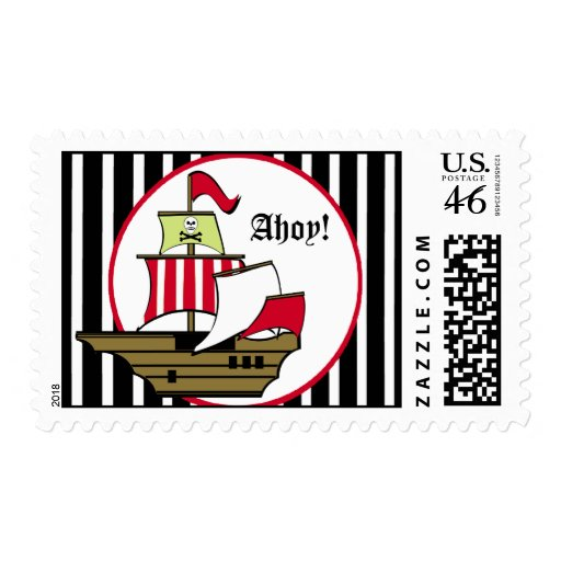 Pirate Ship Voyage Postage Stamp
