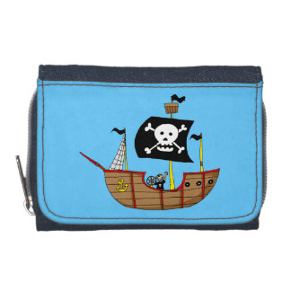 Pirate ship wallet