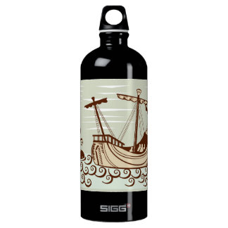 Pirate Ship & Whale Water Bottle