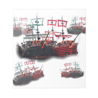 Pirate ships are leaving for a Good Trip Notepad