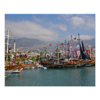 Pirate Ships in Turkey Poster/Print