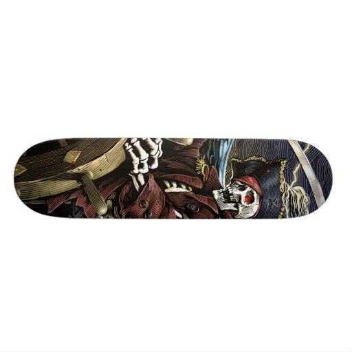 Pirate Skeleton Skateboard