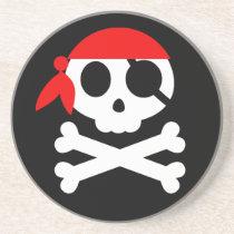 Pirate Skeleton Skull Bandanna Coaster