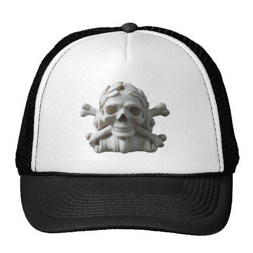 Pirate Skeleton Skull & Bones Cap Trucker Hats