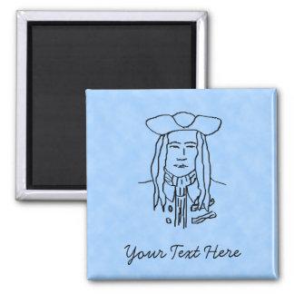 Pirate Sketch. Fridge Magnets