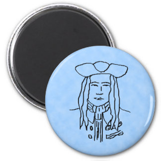 Pirate Sketch. 2 Inch Round Magnet