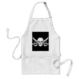 Pirate Skull Adult Apron
