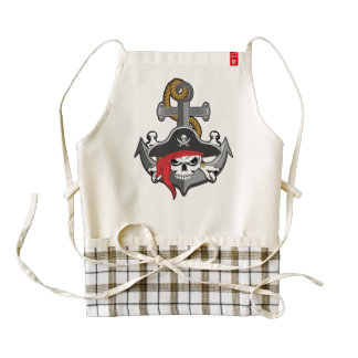 Pirate Skull Anchor Zazzle HEART Apron