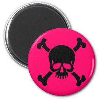 Pirate Skull and Bones 2 Inch Round Magnet