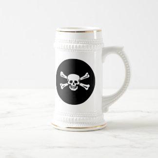 Pirate Skull and Bones Beer Stein