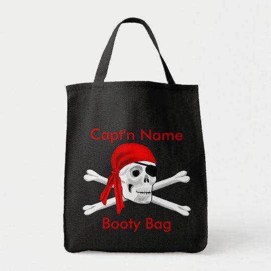 Pirate Skull and Bones Booty Bag
