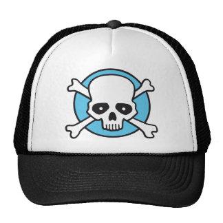 pirate skull and bones comic styles fun trucker hat