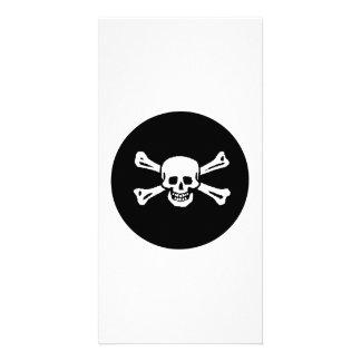 Pirate Skull and Bones Photo Greeting Card