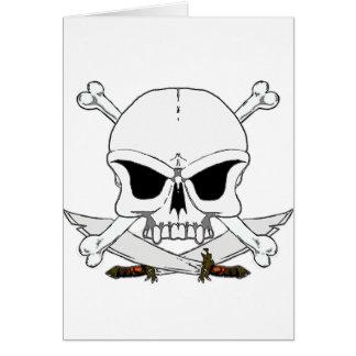 Pirate skull and cross bones 2 greeting cards