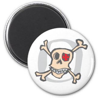 Pirate: Skull and Cross Bones 2 Inch Round Magnet