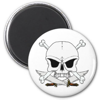 Pirate skull and cross bones 2 magnet