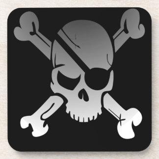 Pirate Skull and Cross Bones Drink Coasters