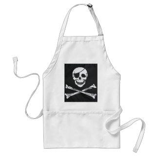 Pirate Skull and Cross Bones - Jolly Roger Aprons